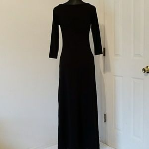 GAP Black Long Sleeve Maxi Dress